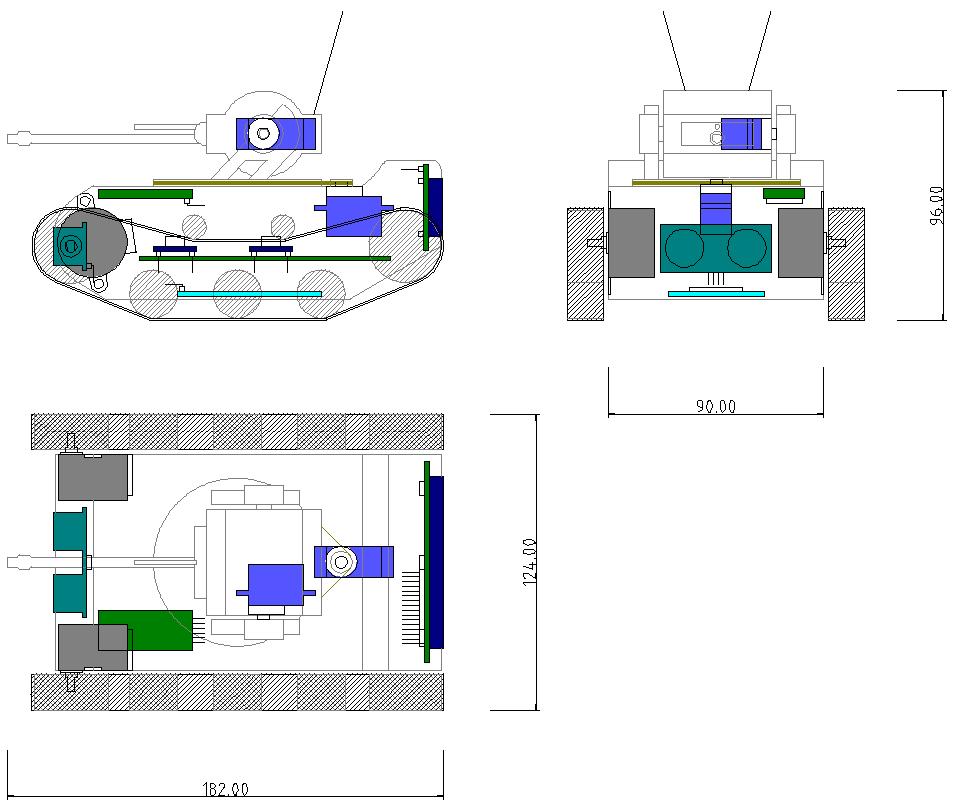 Plan 2D du robot